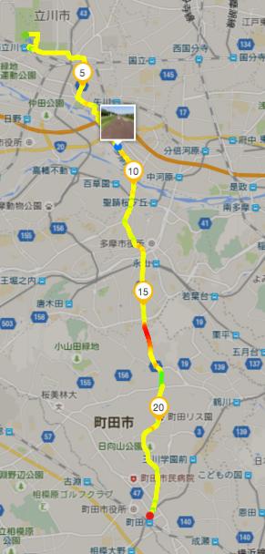 立川から町田まで