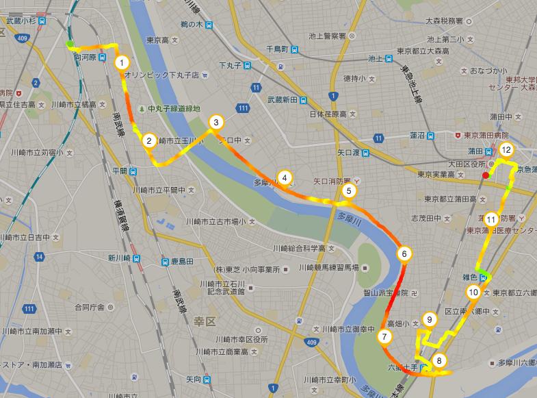 2016-07-24 1 武蔵小杉-蒲田