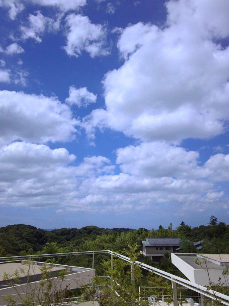 鎌倉山から相模湾を望む